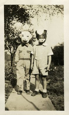 Porky & Mooey...Suppose this is suppose to be cute. I find it unsettling. In light of pop horror media today. lol