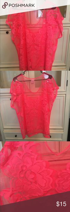 Neon pink beach cover up NWT Neon pink beach cover up! Brand new/never worn! Swim Coverups