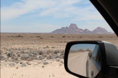 Spitzkoppe This front-and-rear view photo was taken while driving through the Dorop National Park