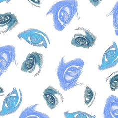 Eyes on me pattern_neutrals fabric by andso on Spoonflower - custom fabric Creative Business, Custom Fabric, Spoonflower, Fabric Design, Branding Design, Craft Projects, How To Draw Hands, Quilts, Eyes