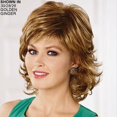 Phoebe WhisperLite® Wig by Paula Young® Perruque Phoebe WhisperLite® de Paula Young® Haircuts For Medium Hair, Short Shag Hairstyles, Layered Haircuts, Short Hairstyles For Women, Medium Hair Styles, Curly Hair Styles, Short Hair With Layers, Short Hair Cuts, Shaggy Short Hair