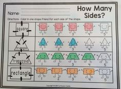 """2D shapes activity: How Many Sides?"""""""