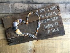 IF HOME IS WHERE THE HEART IS, THEN MY HEART BELONGS AT THE BEACH pallet sign from my Etsy shop https://www.etsy.com/listing/576768403/beach-signs-beach-decor-pallet-sign #DIYHomeDecorPallets #palletbeachsigns
