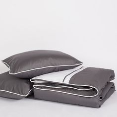 Bedroom inspiration and bedding decor | The Hayes Nova Charcoal Grey Duvet Cover | Crane and Canopy