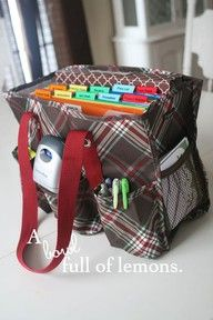 A mobile office for all of on the go moms- I have 3 -- Rhea Lana's biz, home biz, and homeschool!    http://www.mythirtyone.com/44096/ pg 36-37 from the current catalog!