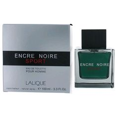 Encre Noire Sport Cologne Eau de Toilette EDT 3.3 oz  by Lalique for Men NIB #Lalique