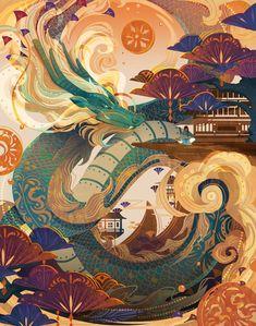 Arte Peculiar, China Art, Illustrations And Posters, Pretty Art, Aesthetic Art, Japanese Art, Art Inspo, Amazing Art, Character Art
