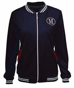 6310ef504f HTOOHTOOH Women Lightweight Biker Bomber Jacket Zipper Short Outdoor Coat  Dark Blue L Outdoor Coats