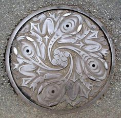 all drain covers should be art...