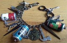 Zombie Apocalypse Charm Bracelet ZA406 by NormanJewelry on Etsy