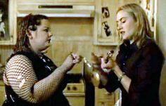 Melissa McCarthy and Kate Winslet in the 2003 film The Life of David Gale.