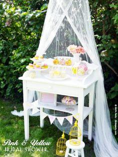 Cute dessert table!