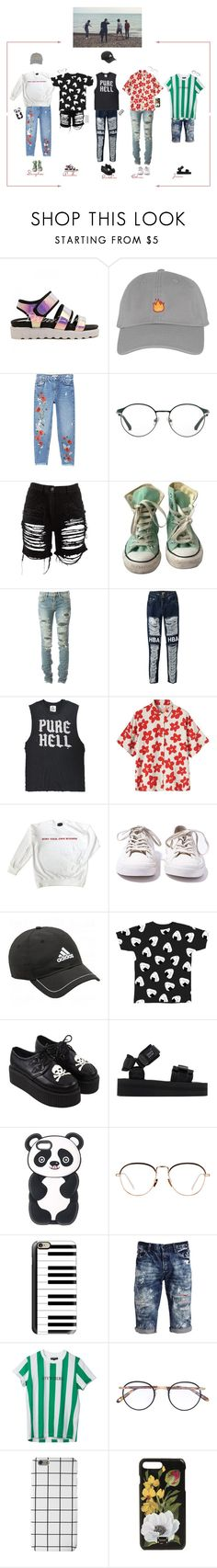 """""""PTX """" Beach V Live """" w/ S'nD"""" by purrfectas ❤ liked on Polyvore featuring MANGO, 3.1 Phillip Lim, Maison Margiela, Converse, Yves Saint Laurent, Hood by Air, UNIF, Toast, adidas and Suicoke"""