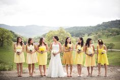 I am in love with idea of different shades of color for my bridesmaids dresses