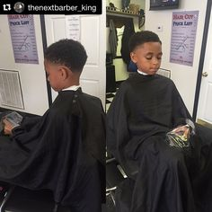 """#Repost @thenextbarber_king """"My Son love #netflix and I got that @capemakers #iCape so he can watch his movie while he get a cut #proper #sanitation is the  #barberlifestyle""""  Now available in Black and Red! Get yours at iCape.biz  #barber #barbershop #hairstylist #salon #barbershopconnect #stylistshopconnect #ladybarber #femalebarber #hairdresser #hairdressing #barberworld #barbernation #barberlife #barberlove #thebarberpost #barbersinctv #nastybarbers #hair #haircut #hairstyle…"""