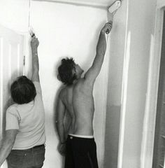 Ashton painting with his grandma !<<< Awwwww!! How sweet/thoughtful of him!!! << *heart warms up*