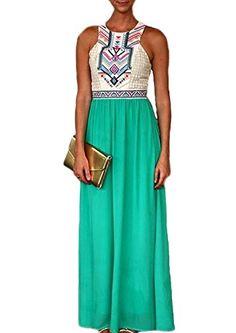 VIISHOW Women Summer Bohemian Floral Print Full Length Maxi Dress   Smart Pinner