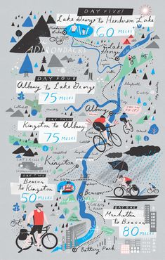 a Hudson Valley bike ride is the perfect fall trip? Read all about Jeffrey Simms's experience in the Fall issue of Upstater!Think a Hudson Valley bike ride is the perfect fall trip? Read all about Jeffrey Simms's experience in the Fall issue of Upstater! Information Design, Information Graphics, Draw Map, Erde Tattoo, Atelier Theme, Sketch Note, Map Projects, Timeline Design, Travel Illustration