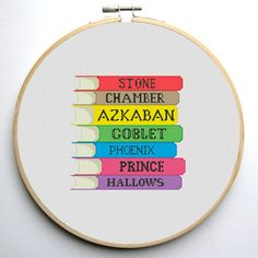 Cross stitch pattern PDF Harry Potter Book by CrossStitchForYou                                                                                                                                                                                 More