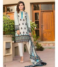 Signature Icon Embroidered Lawn Collection 2016 ZS_2A