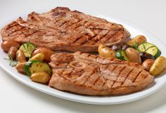 GRILLED VEAL STEAKS (TELESHKI SHNICLI) If you're bored of classic recipes for meat dishes, I suggest you to try this specialty. Combine with baked potatoes and fresh salad. The marinade in this recipe can be also used for other kinds of meat.