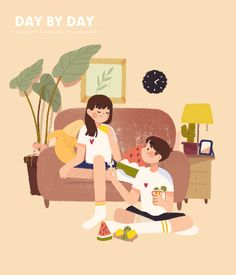 Yan Chien on Behance Couple Illustration, Character Illustration, Graphic Design Illustration, Digital Illustration, Cute Cartoon, Cartoon Art, Illustrations And Posters, Cute Drawings, Cute Art