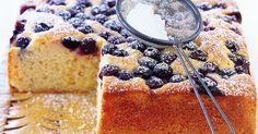 Blueberry Cake by Taste. Made with in-season blueberries, this moist cake is easy to whip up for any family occasion. Baking Recipes, Cake Recipes, Dessert Recipes, Baking Ideas, Snack Recipes, Snacks, No Bake Treats, Yummy Treats, Sweet Treats