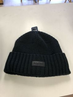 f168cf0f709 adidas Beanie Hat New With Tags Blue Knit Cap Winter Cold Ski Snowboard  Fits All