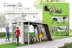 Econology Life Bicycle Shelter Combines Nature and Eco Friendly Technology | Tuvie