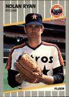 1989 Fleer Nolan Ryan Houston Astros #368 Baseball Card