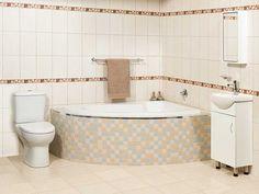 White Salina Right Hand Bath Ctm Beige Bathroom Corner Beautiful Bathrooms
