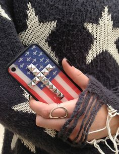 NEW American Flag Cross Wildflower case paired with the cutest Wildfox White Label sweater <3