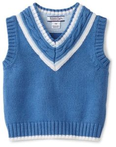 Kitestrings Baby-Boys Infant Vest Sweater With Cable Knit Detail