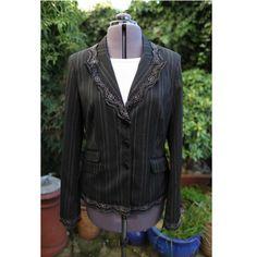 Victorian corset jacket  pinstripe Revamped Upcycled by dashAmbler, $69.95