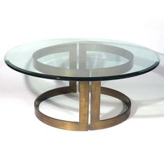 Milo Baughman; Bronze and Glass Coffee Table, 1965.