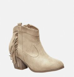 Designer Clothes, Shoes & Bags for Women Fringe Ankle Boots, Fringe Booties, Ankle Booties, All About Shoes, Chunky Heels, Plus Size Fashion, Booty, Fashion Outfits, Shoe Bag