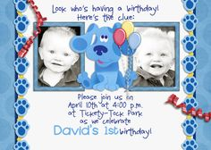 Blues Clues Birthday Party Invitation
