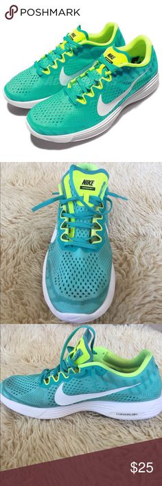 Nike Lunaracer 4 Green Volt Men's Running Shoe Men's size 12, bright green/blue Nike lunar racer 4! Awesome light weight running shoe! Lightly worn on the track, but in great condition. Nike Shoes Athletic Shoes
