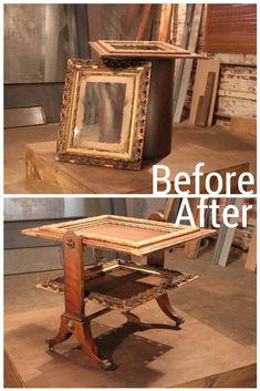 Antique Frames Become Nesting Tables