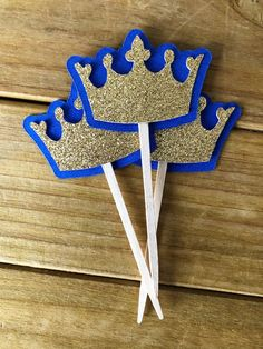 Crown Cupcake Toppers, Crown Cake Topper, Royal Baby Shower, Prince Baby Shower, Prince Birthday Par