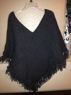 Loom knitted shawl. Finally finished.