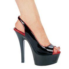 6 Inch Womens Sexy Slingback Shoe Open Toe Open Back Mid Platform
