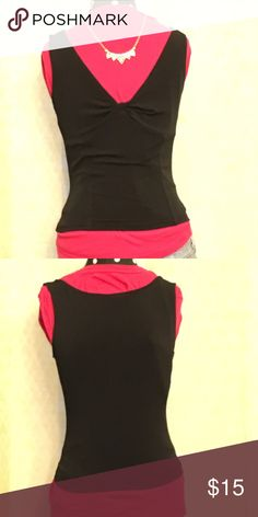 Black tank with knot from Express Super comfortable and cute! Great condition Express Tops Blouses