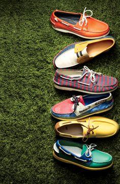 New Generation Boat Shoe. Sapatos coloridos!