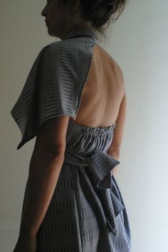 Grey Wrap Dress by NervousWardrobe on Etsy by NervousWardrobe
