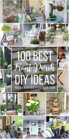 Summer Front Porches, Small Front Porches, Farmhouse Front Porches, Decks And Porches, Front Porch Flowers, Summer Porch, Concrete Patios, Small Porch Decorating, Decorating Ideas