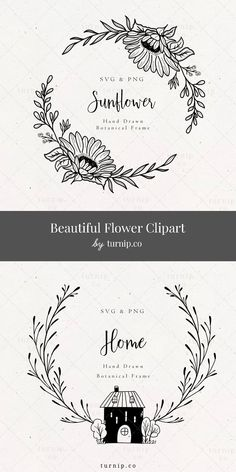 Hand Embroidery Patterns Free, Hand Embroidery Videos, Hand Embroidery Art, Drawing Borders, Botanical Line Drawing, Bridal Shower, Baby Shower, Creative Gift Wrapping, Frame Clipart