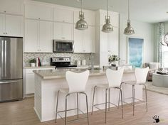 small living kitchens | Smart Ideas of Kitchen and Living Room in One Place ...