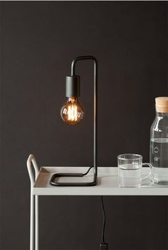 Telegram Co - Dark & Stormy Collection - Desk Lamp - The Butler. Get your #desk #lighting at NoteMaker.com.au.