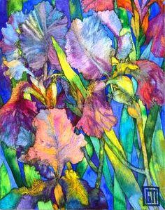 Blue Irises.    Sofiaperinamiller